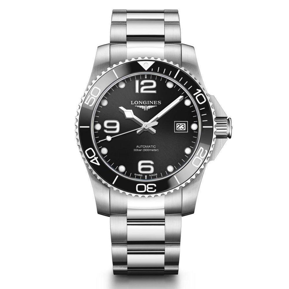 Longines HydroConquest L37814566 Black Ceramic Bezel 41mm Automatic Watch £1045 @ Beaverbtooks
