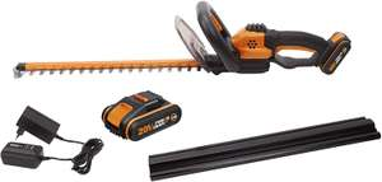 WORX WG261E.1 18V (20V MAX) Cordless 45cm Hedge Trimmer with 2 Batteries £79.99 @ Amazon
