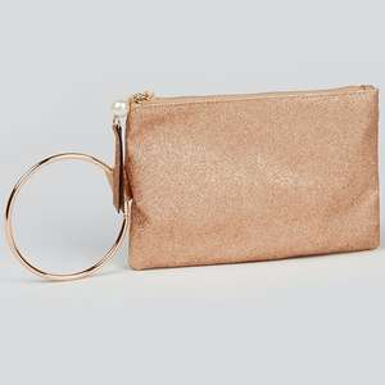 Gold Ring Clutch Bag £4 Free C&C @ Matalan