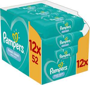 Pampers Fresh Clean Baby Wipes 12 Packs (624 Wipes total) for £7.67 (Prime) / £12.16 (Non Prime) delivered @ Amazon