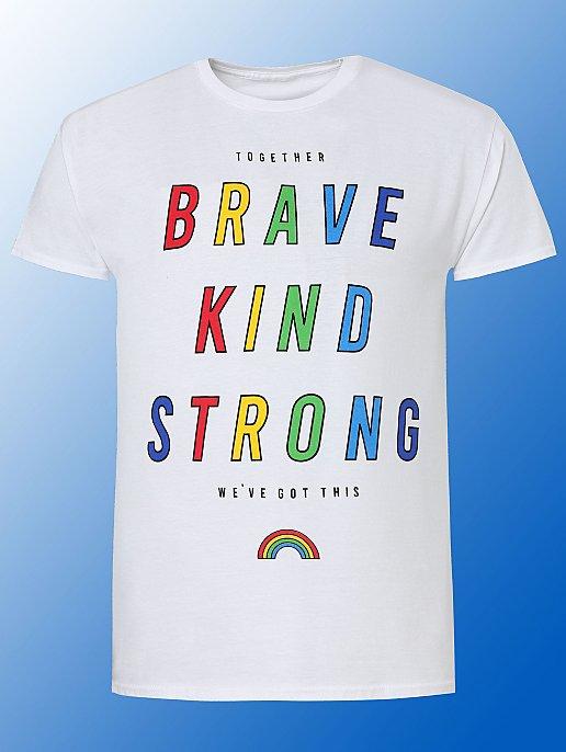 Adults NHS & Carers Charity Slogan T-Shirt £3.50 free click and collect at Asda George