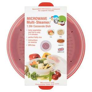 Good 2 Heat Microwave Steamer 1.5 L - £3.50 at Morrisons