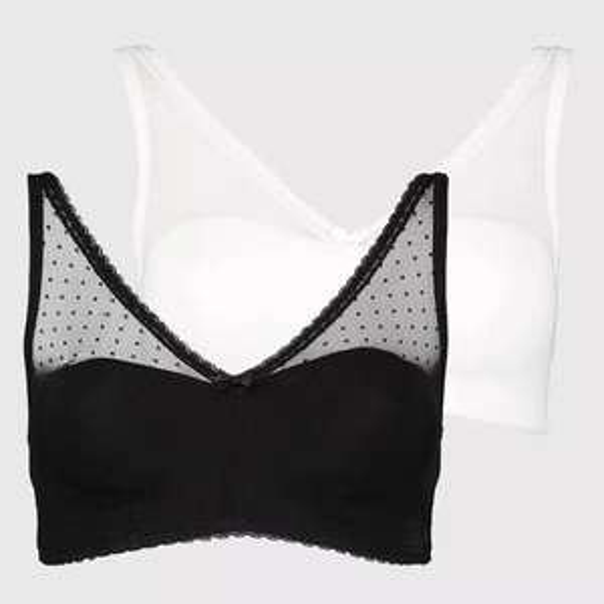 White & Black Spot Mesh Padded Lounge Bra - 2 Pack for £7.00 @ Argos (click & collect)