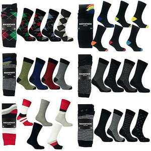 12 Pairs Of Mens Cotton Rich Socks Size 6-11 (7 designs to choose from) £7.95 + Free Delivery @ eBay / rzk_textiles