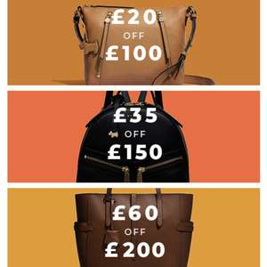 Radley Autumn offer - £20 off £100, £35 off £150 and £60 off £200 spend