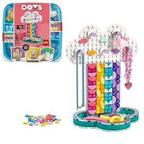 LEGO DOTS 41905 Rainbow Jewellery Stand DIY Desk Accessories Decorations Set £7.98 (Prime) + £4.49 (non Prime) at Amazon