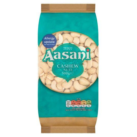 Tesco Aasani Cashew Nuts/ Almonds - 500G - £4.50 @ Tesco