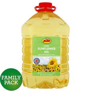 KTC Pure Sunflower Oil / KTC Vegetable Cooking Oil - 5 L - £4.00 @ Morrisons