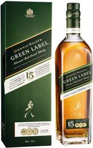 Johnnie Walker Green Label Blended Scotch Whisky 70cl with Gift Box £30 Amazon