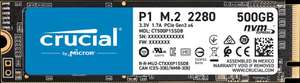 Crucial P1 500GB 3D NAND NVMe PCIe M.2 SSD £52.43 with code at crucial Shop