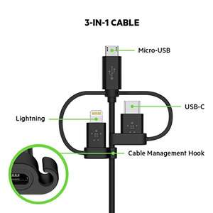 Belkin 4 ft/1.2 m Universal Cable with Micro-USB, USB-C and Lightning Connectors £11.97 prime / £16.46 non prime @ Amazon