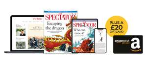 Subscribe to The Spectator, £12 for 12 issues, £20 Amazon voucher included