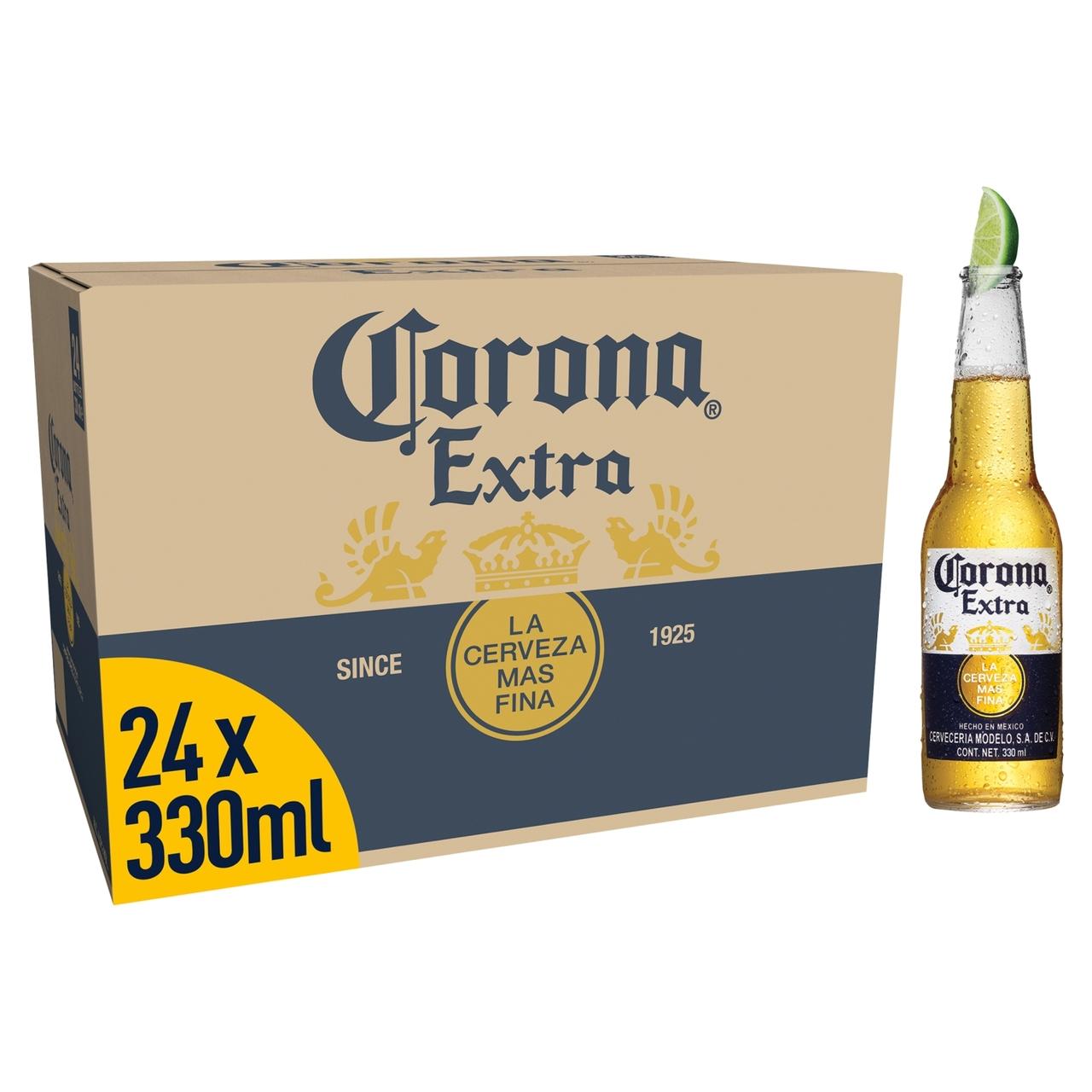 24 bottles Corona beer 330ml £14.40 at Tesco Dudley