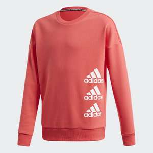 adidas Must Haves kid's sweatshirt in core pink and white (various sizes) for £13.98 delivered (Creators Club) @ adidas