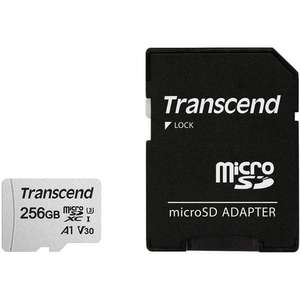 Transcend 256GB V30 A1 Micro SD Card + Adapter - 95MB/s, £24.99 at MyMemory