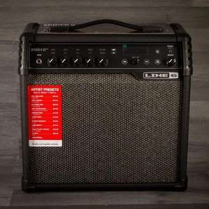 LINE 6 SPIDER V 30W MKII Guitar Amp - Built In Effects, Tuner, Metronome & Jam-along Drum Loops - £128.25 Using Code @ MusicStreet