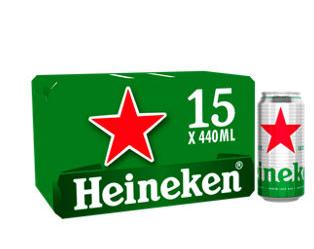 Heineken 15x440ml £11 Asda online and Instore
