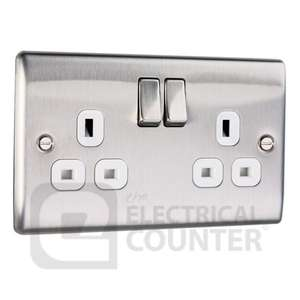 BG Nexus Stainless Steel Double Plug Socket Switched , £4.31 at Electrical Counter
