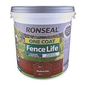 Ronseal 9L One Coat Fence Life £10.99 free click & collect @ Screwfix
