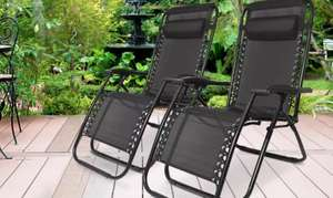 2x Zero Gravity Outdoor Reclining Garden Lounger Chairs - £53.99 delivered using code @ Groupon