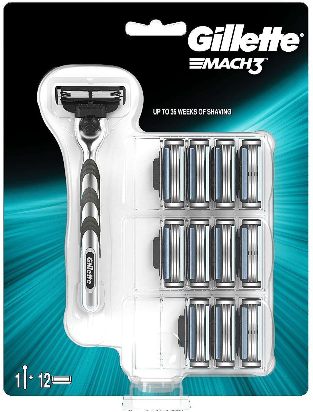 Gillette Mach 3 Big pack razor and 11 blades - £7.50 @ Asda (Northwich)