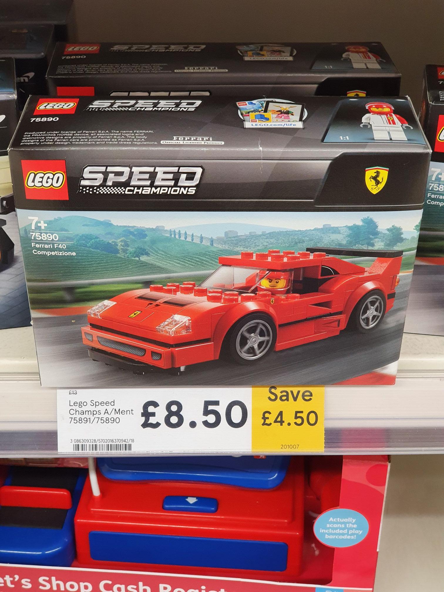 Lego Speed Champions 75890 / 75891 Ferrari F40 / Chevrolet Camaro @ Tesco, Montrose, Scotland