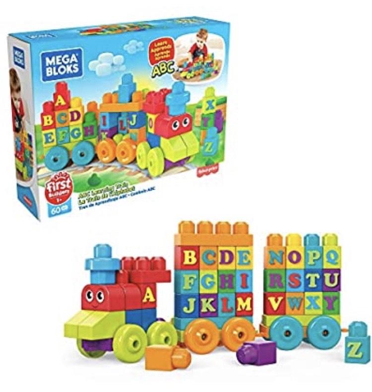 Mega Bloks DXH35 Building Basics ABC Learning Train - £10 (+£4.49 Non-Prime) @ Amazon