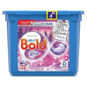 Bold All in 1 Rose Wonderland Pods with Built in Lenor Winter Edition 22 Washes £4.99 Exclusively @ Home Bargains