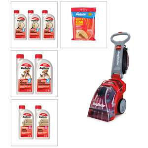 Rug Doctor Carpet Cleaner w/ 2x1L Pet Detergent, 3x 1L Carpet Detergent, 2x Oxy Power Fabric Cleaner & 1x Spot Stain Wipes £230 at IWTV
