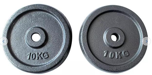 Opti cast iron 10kg x 2 plates - £29.99 @ Argos (Free Click & Collect)
