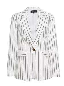 White Pinstriped Blazer Jacket £10.80 delivered with code @ Dorothy Perkins