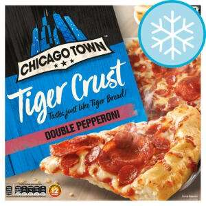Chicago Town Tiger Crust Double Pepperoni Pizza 320G / cheesy Medley Pizza 305G 75p @ Tesco metro Torquay