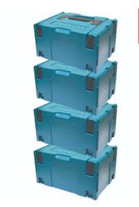 MakitaMAK8215518 Pack of 4 Large MacPac Stackable Cases Box Bundle Type 3 - £84 @ ITS