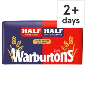 Warburtons Half And Half Medium or Thick Bread 800G 65p / Cherry Bakewells or Viennese Whirls 6 Pack 85p / Sweetheart Cabbage 35p @ Tesco