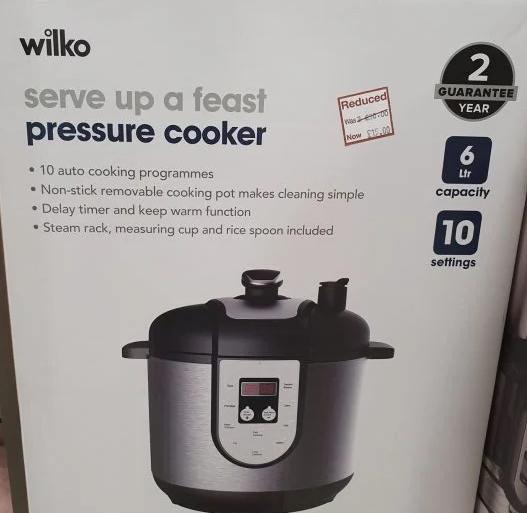 Wilko pressure cooker £15 (Nuneaton Store)