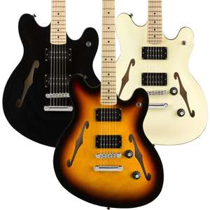 Squier Affinity Starcaster Hollow Body Guitar In Black, Olympic White or Sunburst - £199 + Free Next Day Delivery @ GuitarGuitar