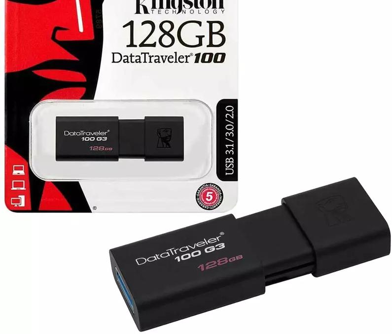 Kingston 128GB DataTraveler 100 G3 USB 3.1 Flash Drive - 130MB/s - £10.99 delivered @ MyMemory