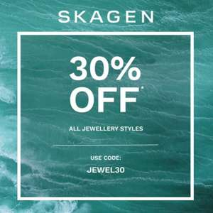 30% Off Jewellery Styles using discount code + Free Delivery @ Skagen