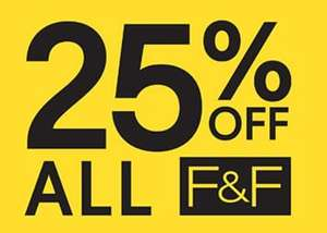 25% off all clothing and footwear (No Exclusions) 24th-27th September @ Tesco