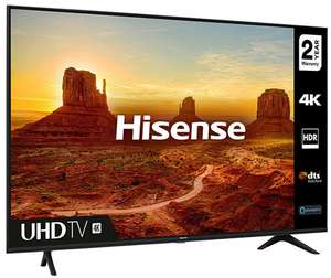 """Hisense 65A7100F 65"""" 4K Ultra HD HDR Smart TV with Freeview Play Sports Mode + 2 Year Warranty - £489 with code @ cramptonandmoore eBay"""