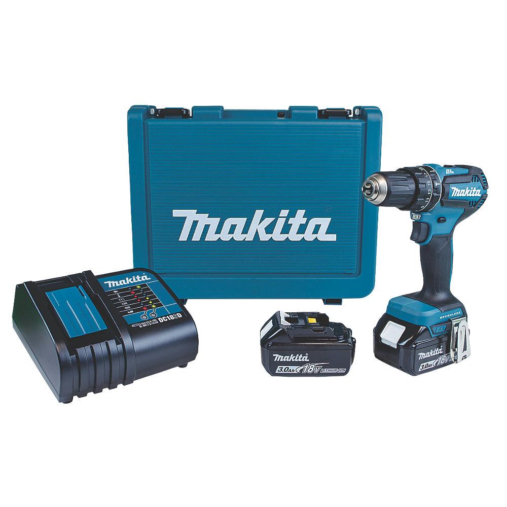 £40 off MAKITA DHP485SFE 18V LXT Brushless combi hammer drill - £159.99 @ Screwfix
