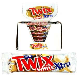 24 X TWIX White Extra Chocolate Large 75G BARS delivered BBE 08/11/2020 @ Yankee Bundles