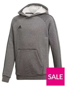 Adidas Youth Core 18 Sweat Hooded Tracksuit Top - Grey £7 at Very