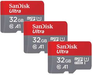 SanDisk 32GB Ultra Micro SDHC Memory Card 98MB s Class 10 for Android (64GB 3er Pack for £21.69) - THREE PACK - £14.69 delivered @ Picstop