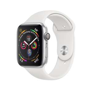 Refurbished Apple Watch Series 4 GPS, 44mm Silver Aluminium Case with White Sport Band - £289 @ Apple Store