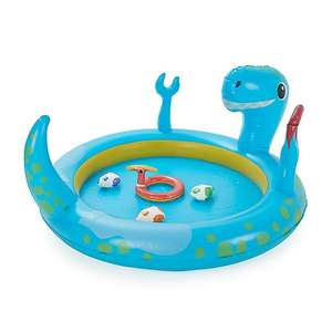 Inflatable Dinosaur paddling pool with sprayer and included toys for £3.75 click & collect @ Dunelm