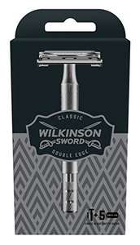 Wilkinson Sword Classic Double Edge Safety Razor with 5 Blades £10 prime / £14.49 non prime @ Amazon