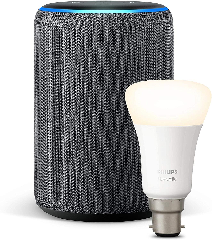 Amazon echo plus 2nd Gen and Philips hue white bulb B22 or E27 £59.99 Amazon
