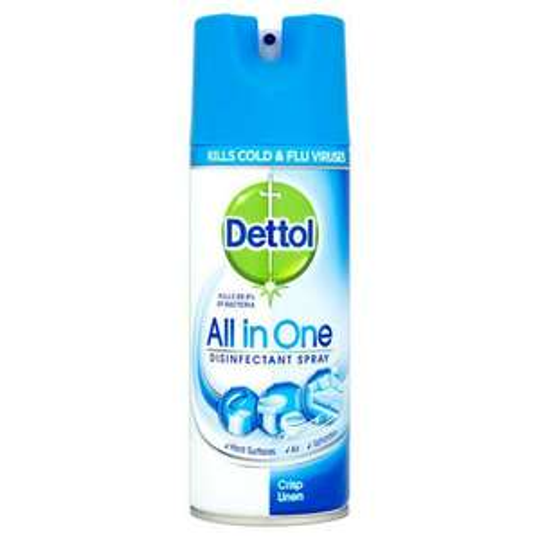 Dettol All-in-One Disinfectant Spray, Crisp Linen, 400 ml - £2 @ Iceland