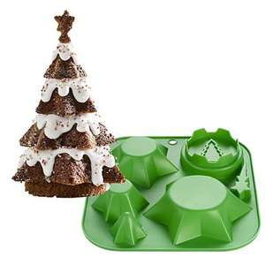 Lakeland 3-piece Christmas Tree Cake Mould for £7.99 click & collect @ Lakeland